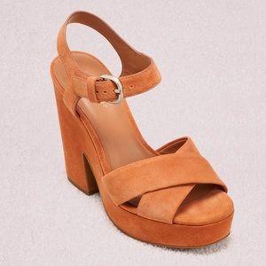 Kate Spade Grace Platform Suede Sandal Wedges